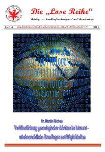 Veröffentlichung genealogischer Arbeiten im Internet – urheberrechtliche Grundlagen und Möglichkeiten