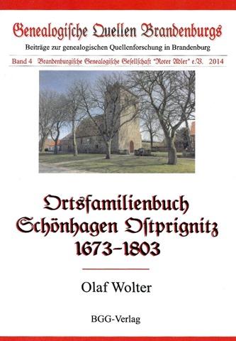 Ortsfamilienbuch Schönhagen Ostprignitz 1673-1803