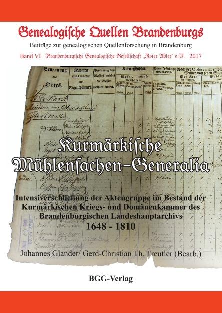 Kurmärkische Mühlensachen-Generalia